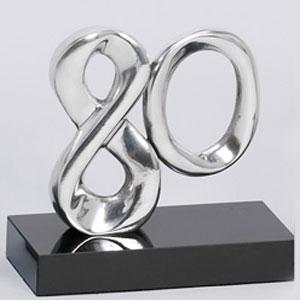 formas-do-fogo - Troféu promocional em alumínio fundido - Modelo 80 anos.