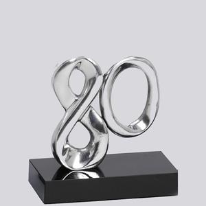 formas-do-fogo - Troféu Personalizado em alumínio - Modelo Nº 80 anos.
