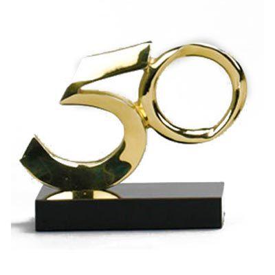 formas-do-fogo - Troféu Personalizado em bronze fundido - Modelo 50 anos.