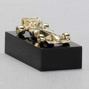 Formas do Fogo - Troféu Personalizado em bronze fundido - Modelo Carro F1 tridimensional.