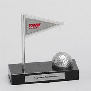 formas-do-fogo - Troféu Personalizado - Modelo Bandeira e Bola de Golf.