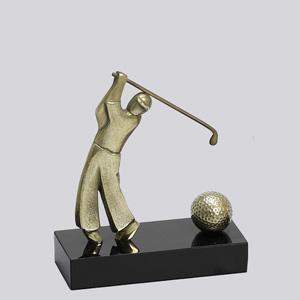 formas-do-fogo - Troféu Personalizado - Modelo Golfista com bola.