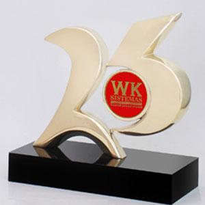 formas-do-fogo - Troféu personalizado com medalha para aplicação de logotipo - Número 25.