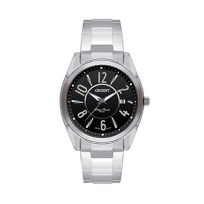 orient-relogios - Relógio de pulso com calendário e caixa em aço inoxidável.