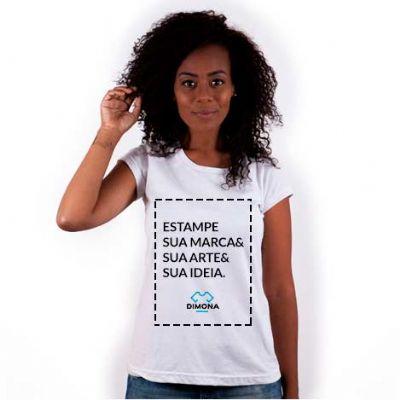 camisa-dimona - Camiseta em malha 30.1 penteada. Costura reforçada ombro a ombro. Personalizada com gravação Silk Screen ou Silk Digital. 100% algodão.  P ● M &...
