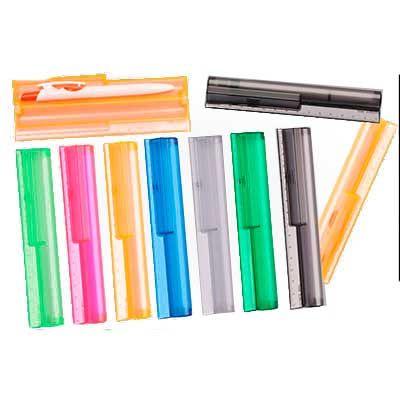 Polymark Produtos Promocionais - Estojo régua 15 cm para uma caneta