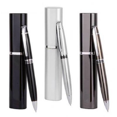 Polymark Produtos Promocionais - Caneta esferográfica fina em metal.