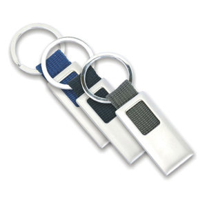 Polymark Produtos Promocionais - Chaveiro metálico com detalhe em nylon.
