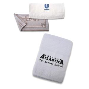 Polymark Produtos Promocionais - Toalhas de banho, rosto e mão, com personalização bordada ou Silkada.