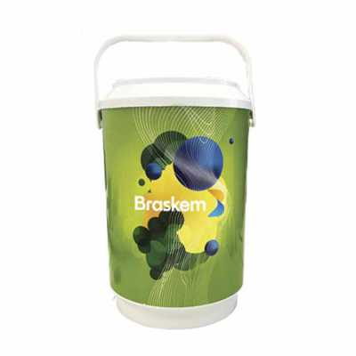 promoline-brindes-personalizados - Cooler Liro Isotérmico com capacidade para 8 latas serve também como porta garrafas e balde de gelo, produzido em polipropileno ( PP ) com parede dupl...