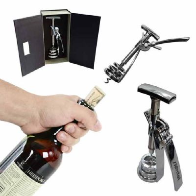 promoline-brindes-personalizados - Abridor Sacarrolha em metal com alavanca