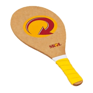 Conjunto de Frescobol sem Pintura - Conjunto modelo ECO formado por duas raquetes de frescobol ta...