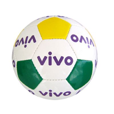 Promoline Brindes Personalizados - Bola futebol vibox brilhante oficial costurada 32g gomos
