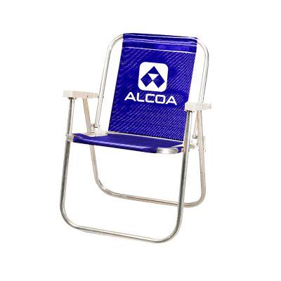 Cadeira de praia alta 1 posição alumínio. - Promoline Brindes Personalizad...