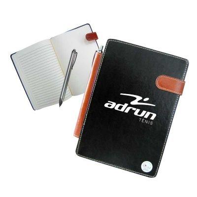 Caderno executivo Oxford com caneta 14,5x21x1,2 - Promoline Brindes Personalizad...