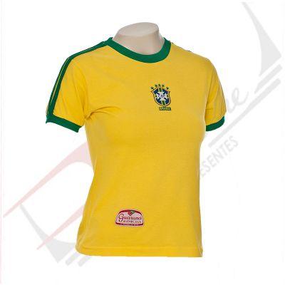 Promoline Brindes Personalizados - Camiseta com gola careca feminina 100% algodão color