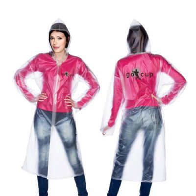 Promoline Brindes Personalizad... - Capa de Chuva em PVC 13 Translúcido Color