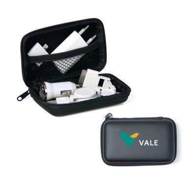 Promoline Brindes Personalizados - Carregador Adaptador USB Carro e Elétrico 8 Pçs.
