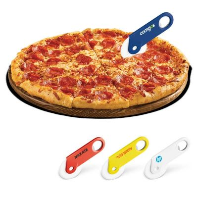 Promoline Brindes Personalizados - Cortador de pizza e abridor de garrafa