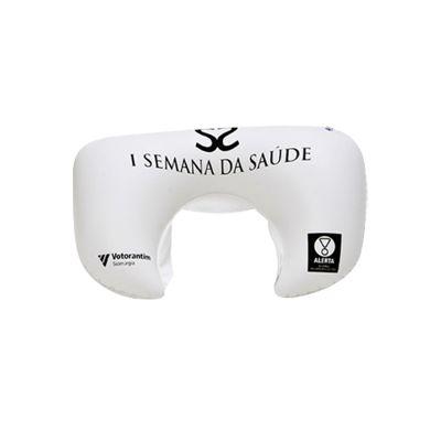 promoline-brindes-personalizados - Almofada encosto de cabeça inflável PVC Cristal 42x26 cm