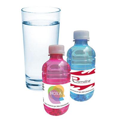 Promoline Brindes Personalizados - Garrafinha de Água Mineral sem Gás com 240 ml.