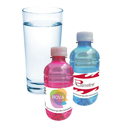 Promoline Brindes Personalizados - Garrafinha de �gua Mineral sem G�s com 240 ml.