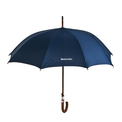 Promoline Brindes Personalizados - Guarda-chuva cabo bengala colonial automático madeira 1,20 mts.