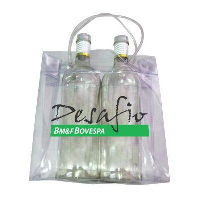 Ice Bag Cooler 2 garrafas alça canudo 25x25x12 - Promoline Brindes Personalizad...