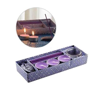 Promoline Brindes Personalizad... - Kit relaxante velas com incenso 4 x 1