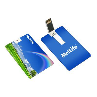 Pen drive cartão color 8 GB - Promoline Brindes Personalizad...
