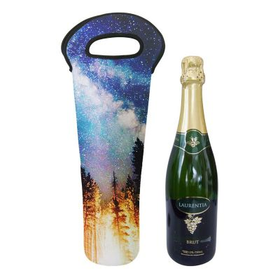 Porta vinho 1 garrafa neoprene transfer - Promoline Brindes Personalizad...