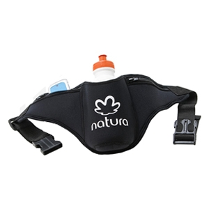 Porta squeeze de cintura ajustável, produzido em neoprene.