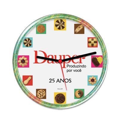 promoline-brindes-personalizados - Relógio de parede disco 22,5 cm