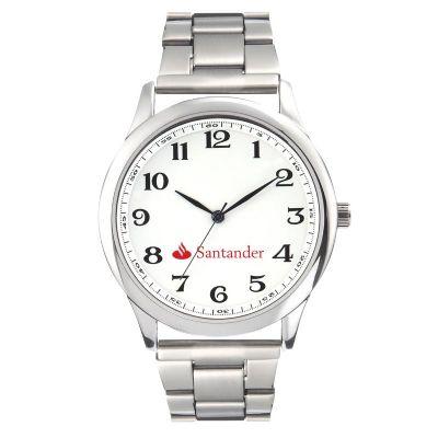Promoline Brindes Personalizados - Relógio de pulso masculino pulseira de metal 44