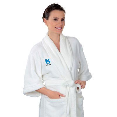 Promoline Brindes Personalizad... - Roupão fleece em microfibra veludo tamanho M