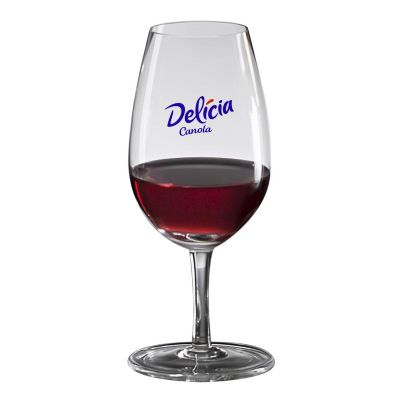 Promoline Brindes Personalizados - Taça para Vinho Modelo Degustação produzida em cristal com capacidade de 210 ml, medindo 15,5 cm. de altura, logotipo estampado em adesivo flambado. -...