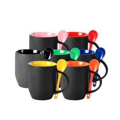 queens-brindes - Caneca Mágica Fosca Colorida com Colher, diversas cores.