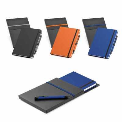 Kit de caderno e esferográfica - Queen's Brindes