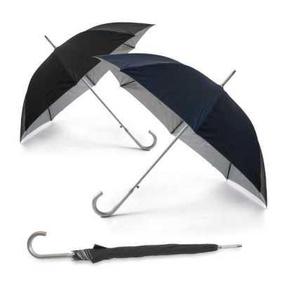 queens-brindes - Guarda-chuva. Poliéster 190T. Haste e pega em alumínio. Abertura automática. ø1050 mm | 890 mm