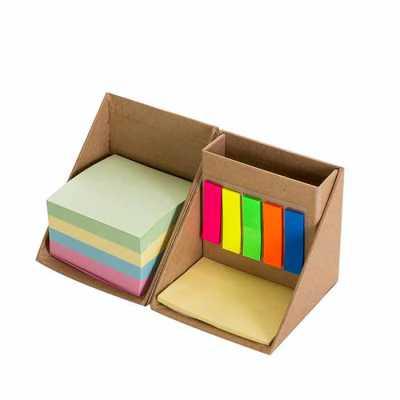 Bloco de anotação cubo com sticky notes