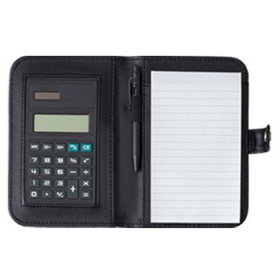 Queen's Brindes - Bloco de anotação com caneta e calculadora