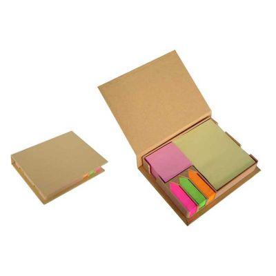 Queen's Brindes - Bloco de anotação com sticky notes. Gravação em serigrafia.
