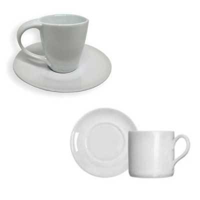 Queen's Brindes - Xícara cerâmica café com pires 88ml