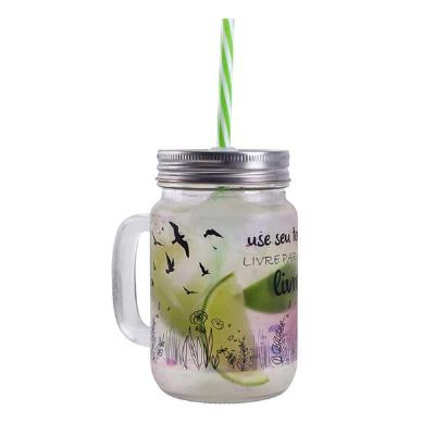 queens-brindes - Copo jarra com canudo
