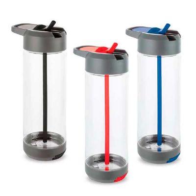 Queen's Brindes - Squeeze. Tritan™ e PP. Com suporte para celular. Capacidade: 750 ml. ø75 x 222 mm. Gravação: Serigrafia