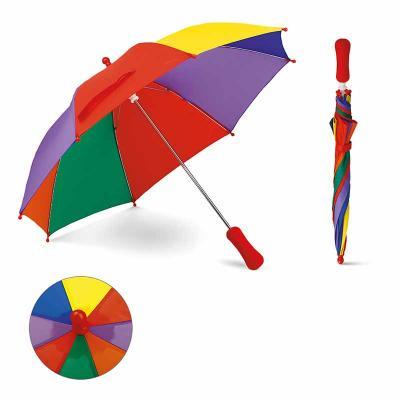 Guarda-chuva para criança. Poliéster. Pega em EVA. ø680x550 mm