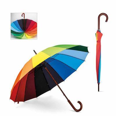 Guarda-chuva. 190T pongee. Pega em madeira. ø1020 x 875 mm