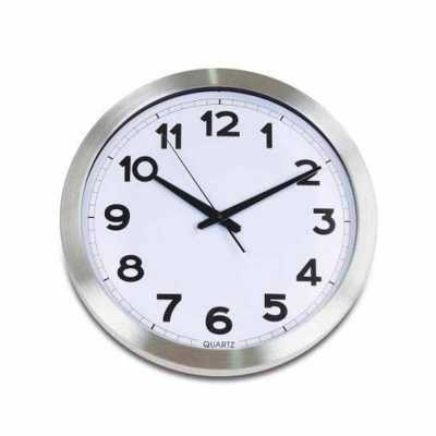Queen's Brindes - Relógio de Parede Redondo de Metal