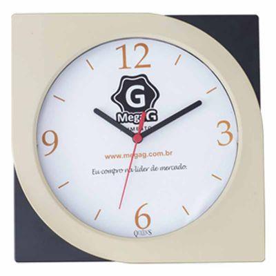 Queen's Brindes - Relógio retangular.