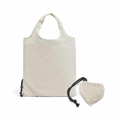 Sacola dobrável. 100% algodão: 100 g/m². Fornecida desdobrada. 370 x 400 mm